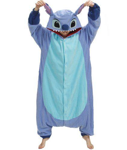one size fits all Stitch Pajama Costume ,Blue