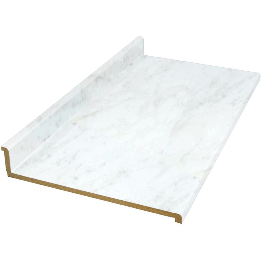 Shop Vti Fine Laminate Countertops 8 Ft White Carrara Fine