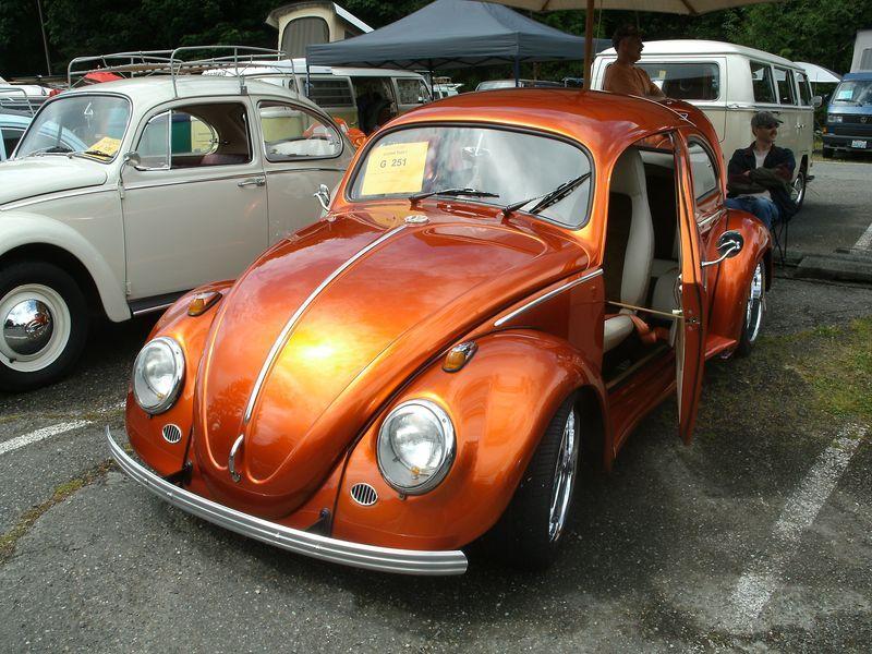 Metallic Orange Vw With Suicide Doors Hello Wheels