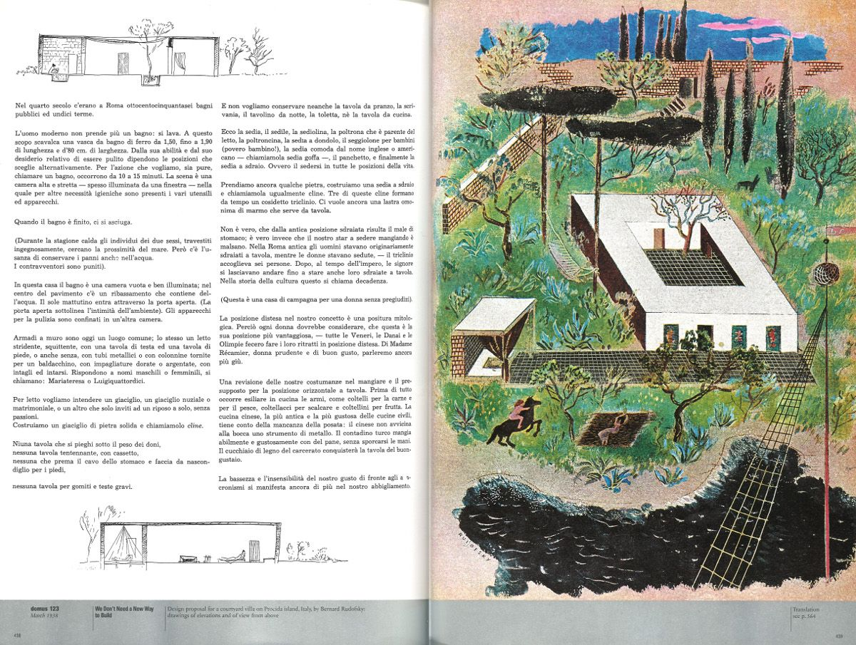 La Sdraio O Lo Sdraio.Rudofsky Villa Sur L Ile De Procida Italie Arquitectura