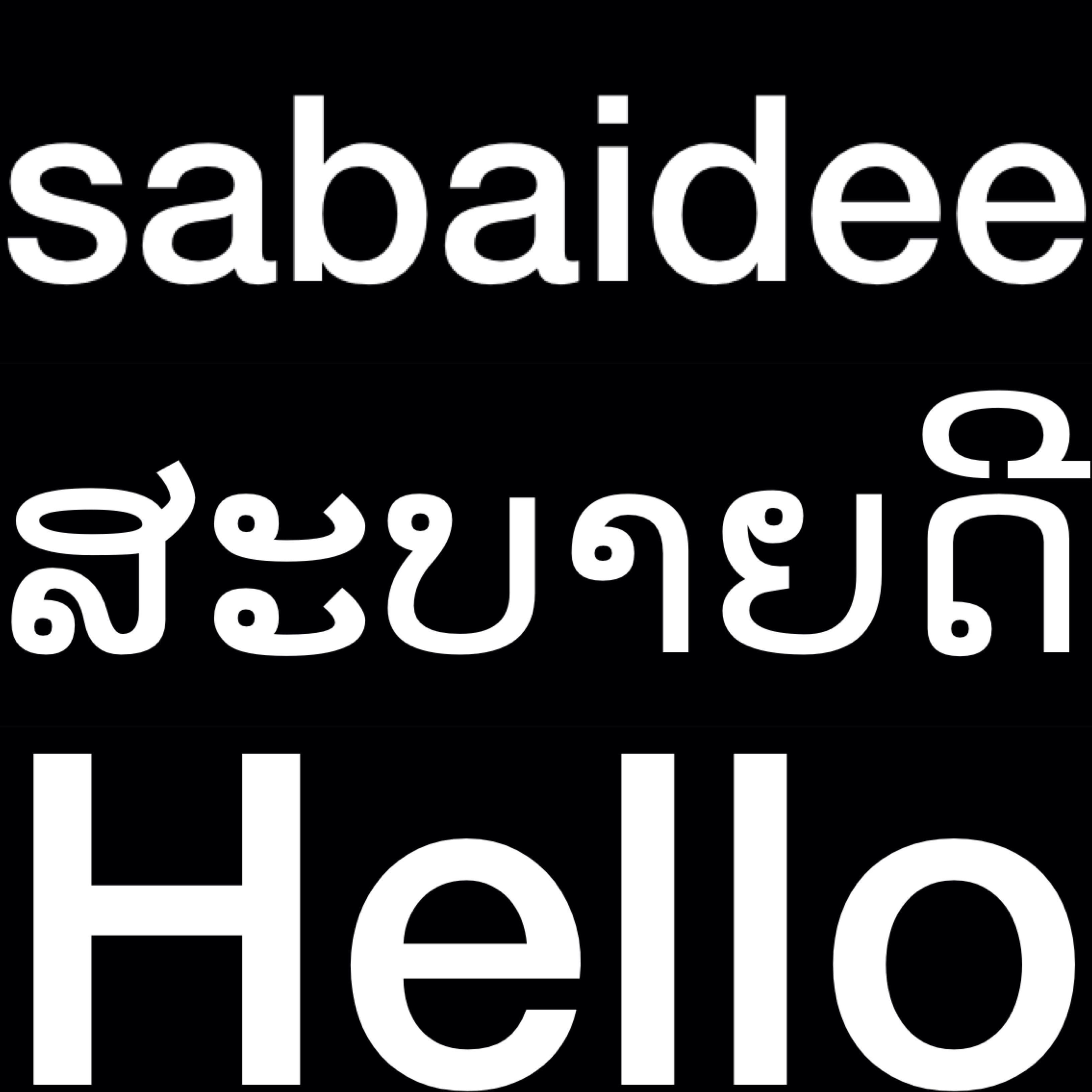 Lao Language Hello Sabaidee Laos Greeting Lao Laos
