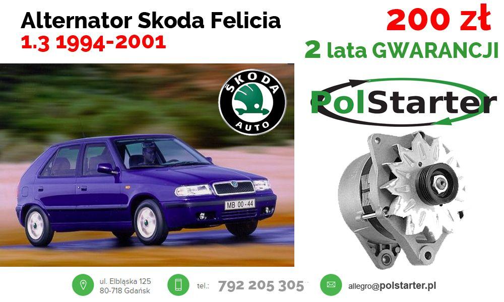 Alternator Skoda Felicia 1 3 1994 2001 6256227161 Oficjalne Archiwum Allegro Skoda Alternator Suv Car