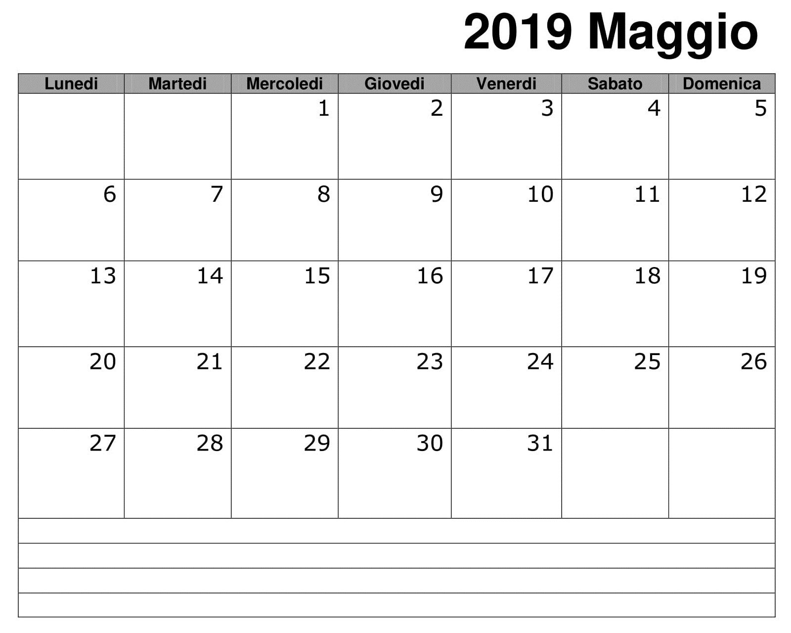 Sensational Calendario Maggio 2019 Documento 150 May 2019 Calendar Beutiful Home Inspiration Truamahrainfo