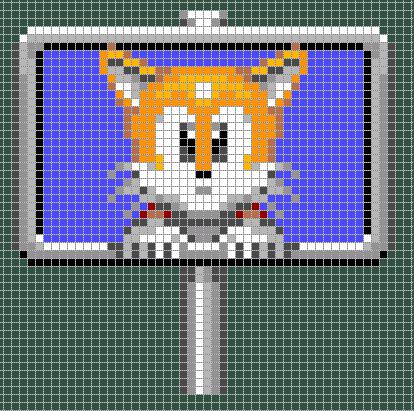 Tails - Sonic perler bead pattern