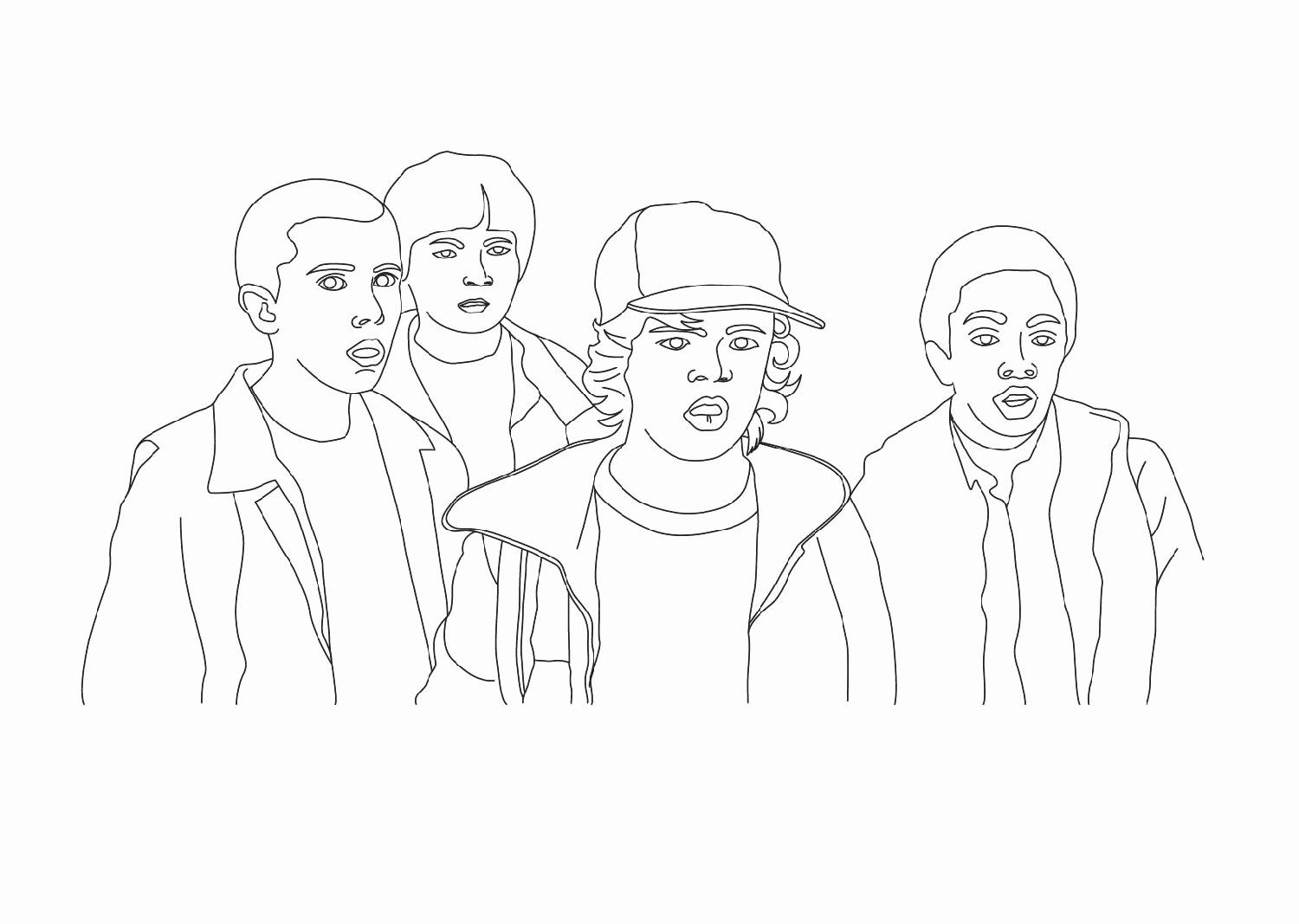 28 Stranger Things Coloring Book In
