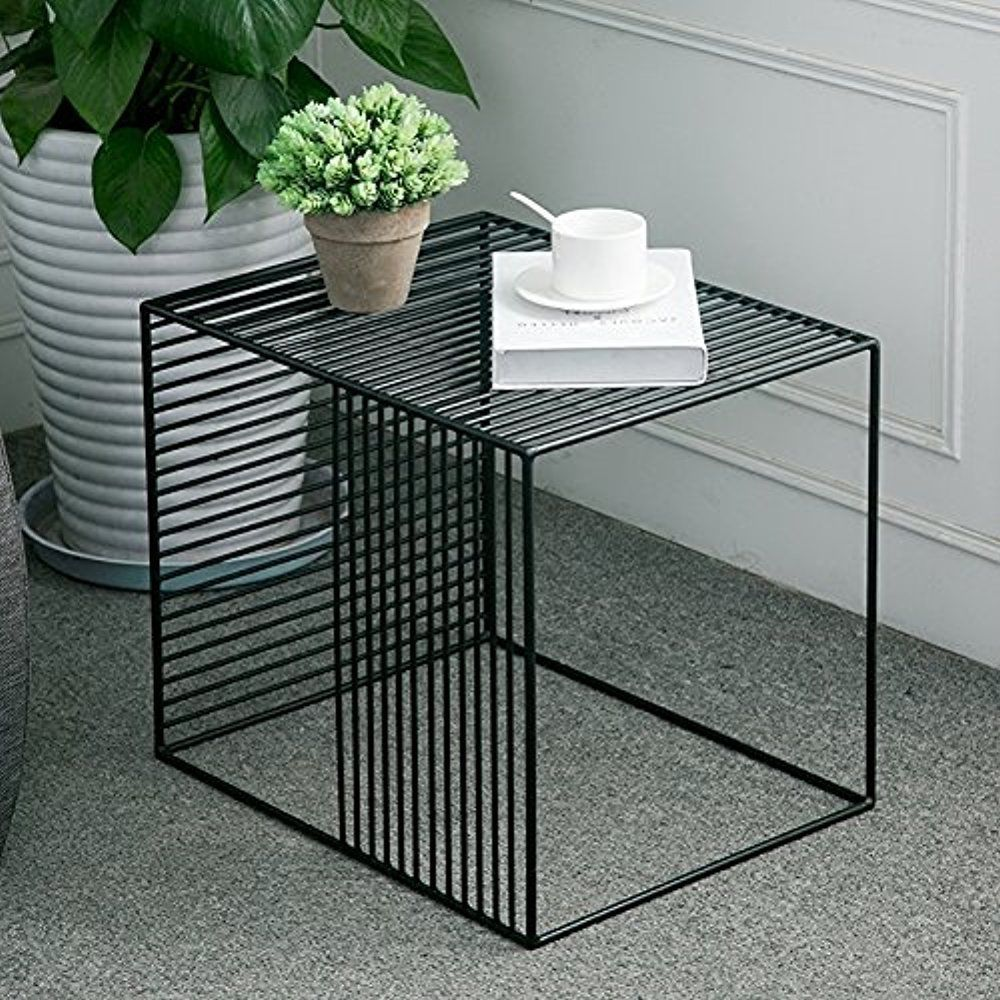 Square Wrought Iron Coffee Table Outdoor Iron End Table Nesting