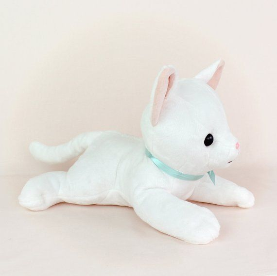 Plush sewing pattern Cat stuffed animal - kawaii laying lying Pokemon plushie feline easy DIY soft