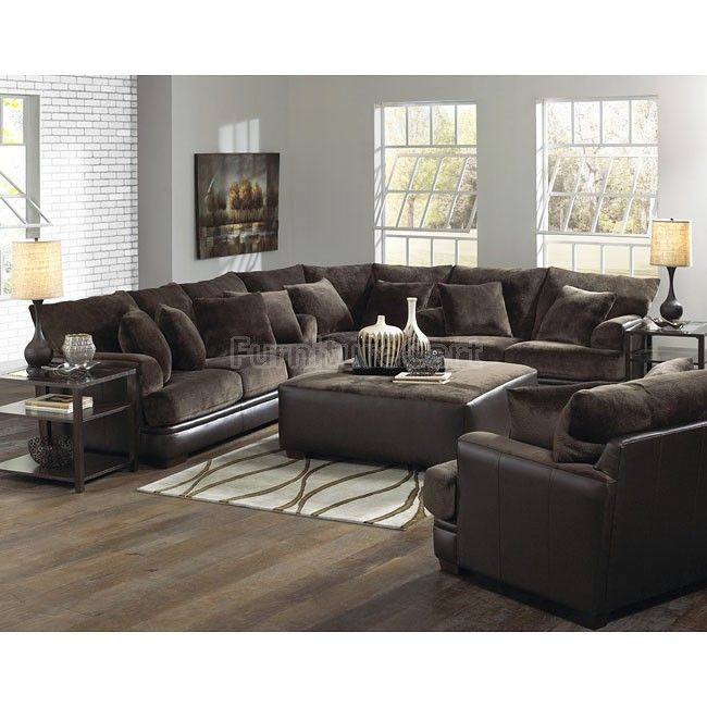 Best Barkley Sectional Living Room Set Chocolate Sectional 400 x 300