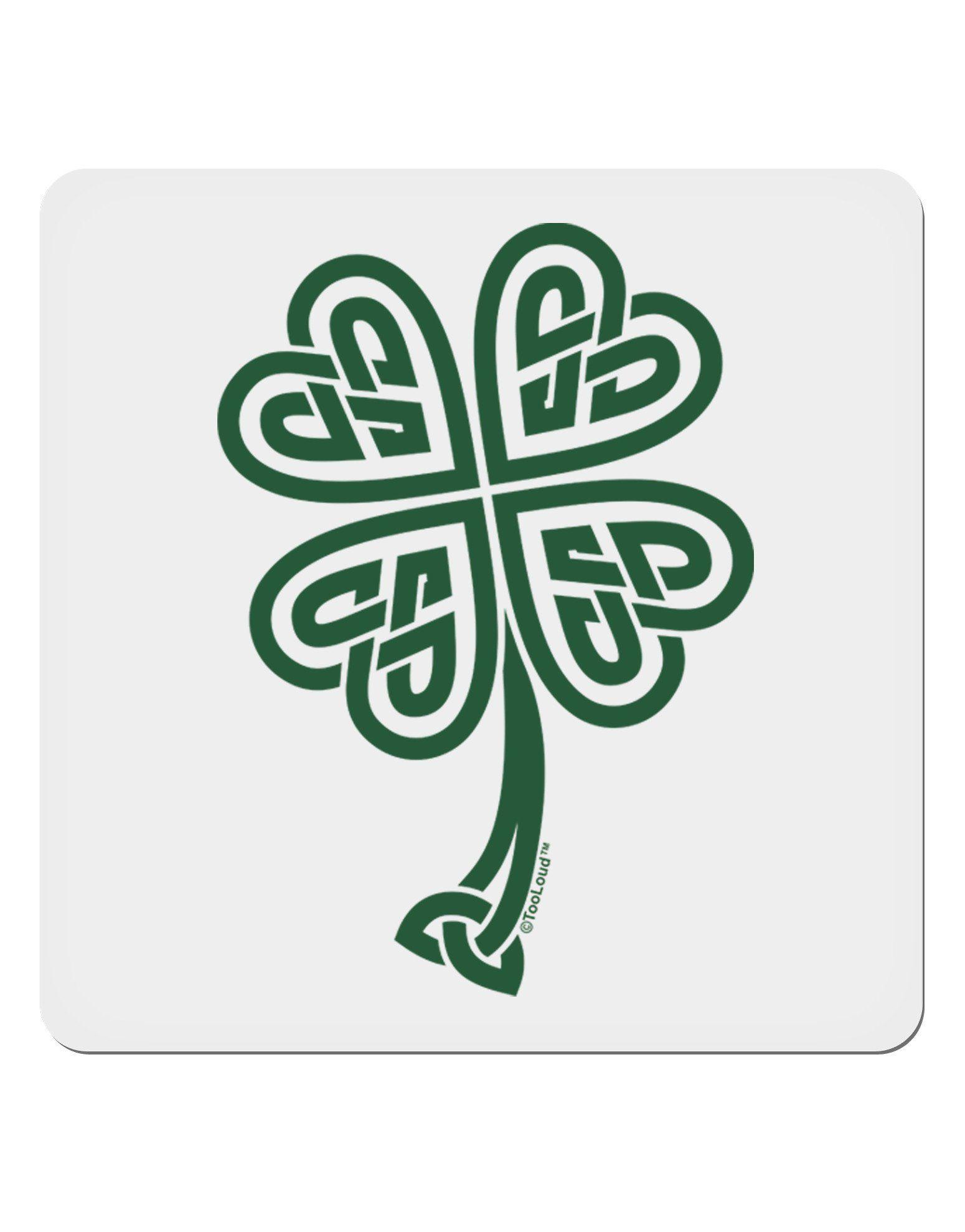 Celtic Knot 4 Leaf Clover St Patricks 4x4 Square Sticker Celtic