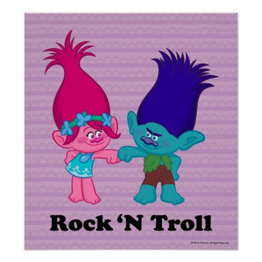 Love Finds You Quote: Poppy & Branch - Rock 'N Troll Poster