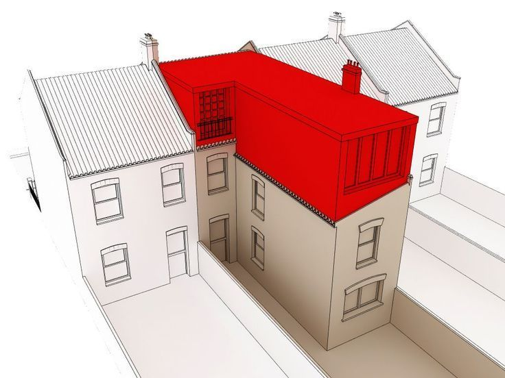 Image result for l shaped loft conversion plans terrace