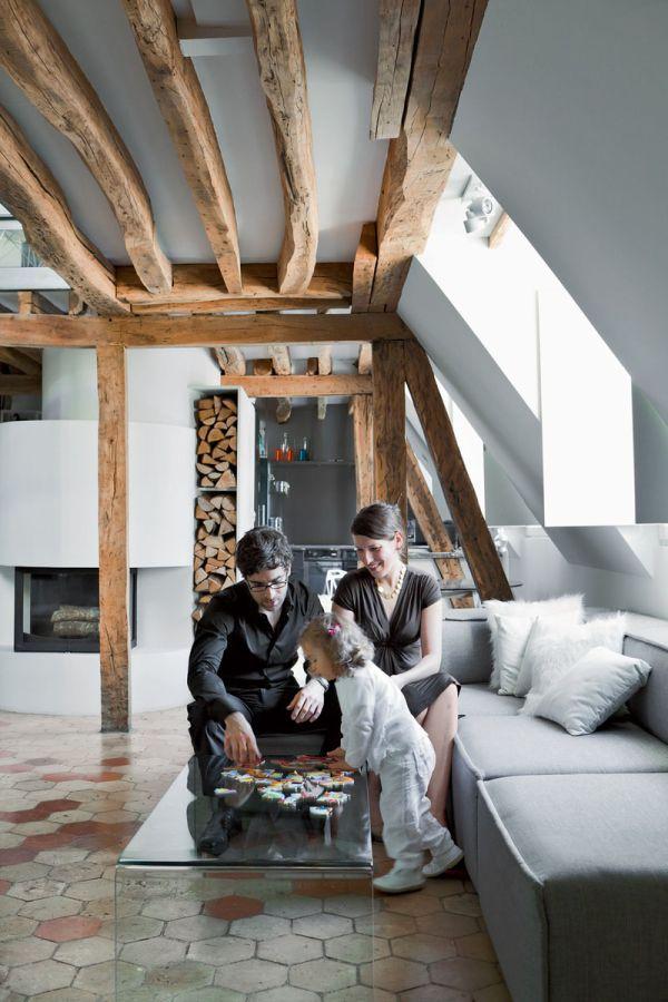 Renovierte Maisonette Wohnung Herzen Paris wohnzimmer Interieur - architekt wohnzimmer