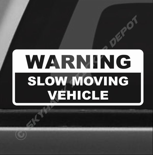 No tools left in this vehicle overnight pack of 3 Printed Vehicle Decal Stickers