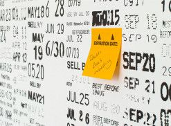 EXP CAL YYYY is a calendar of expiration dates that never expires. Designed by Elizabeth Ward, the calendar was designed and created using found expiration dates from food and medical packaging.