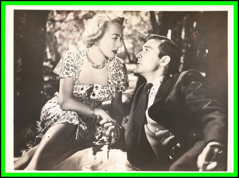 "JOAN CRAWFORD & ZACHARY SCOTT in ""Flamingo Road"" Original Vintage Photo 1949 
