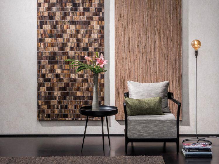 Farben Tapeten Kombinationen Wohnzimmer bronze #rosegold ...