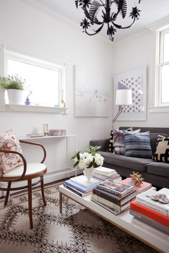 Jordan Ferney, small spaces, living room For the Home Pinterest