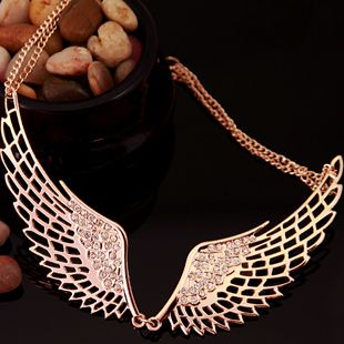 Angel wings angel titanium steel rose gold necklace shop at http