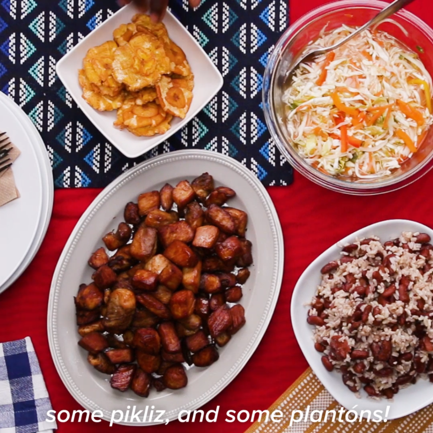 Haitain Griot And Pikliz Tasty Pinterest Cuisine Haitienne