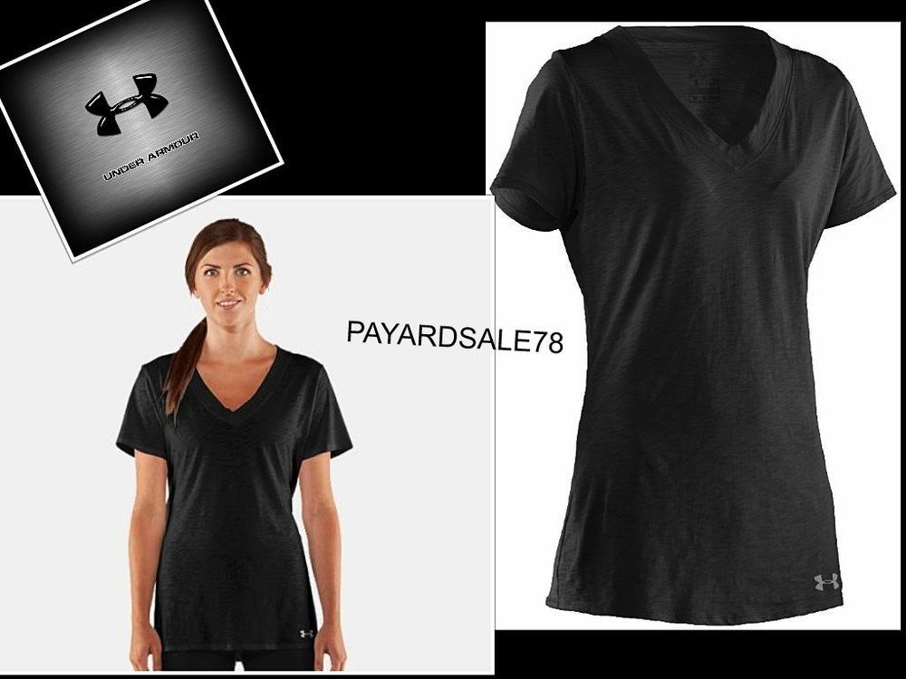Women S Size Xs Black V Neck Ua Featherweight T Shirt Under Armour
