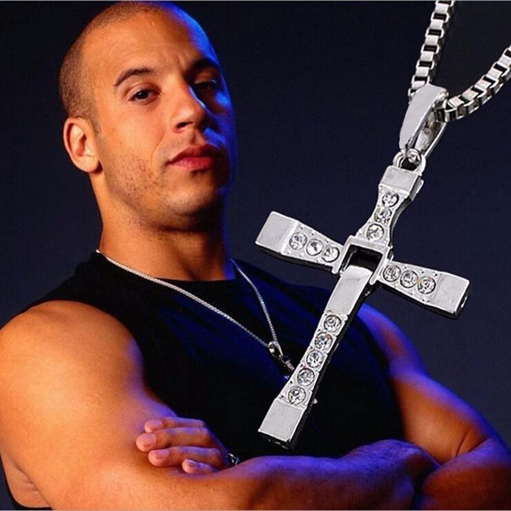 Jiayiqi vintage punk statement necklace trendy male silver color