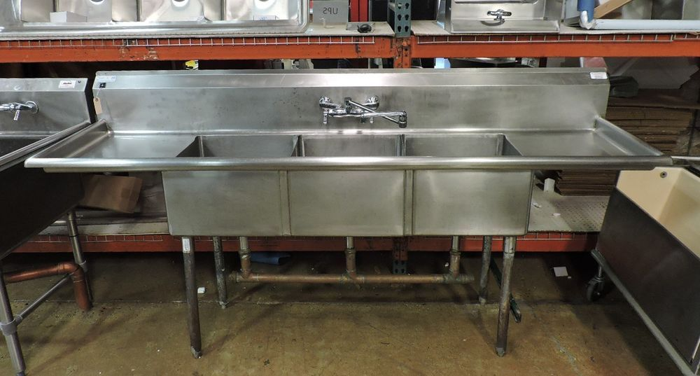 d1 commercial 3 compartment sink w