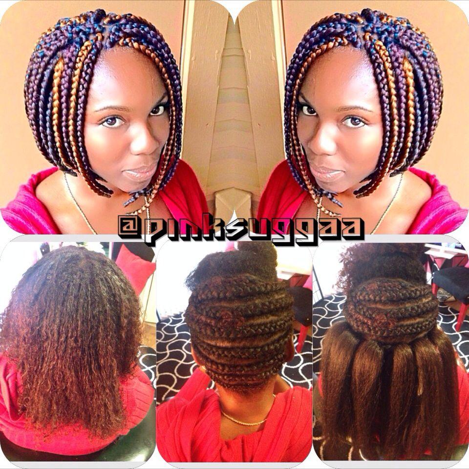 Box braids crochet braids braided bob kurze krause und andere