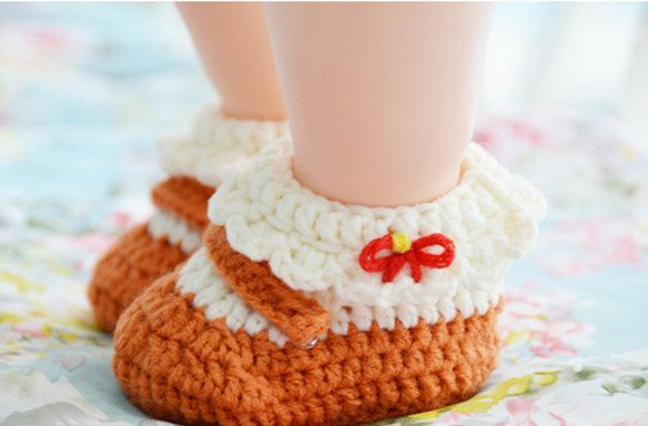 A personal favorite from my Etsy shop https://www.etsy.com/listing/228259638/sweet-baby-girls-crochet-bootieswhite