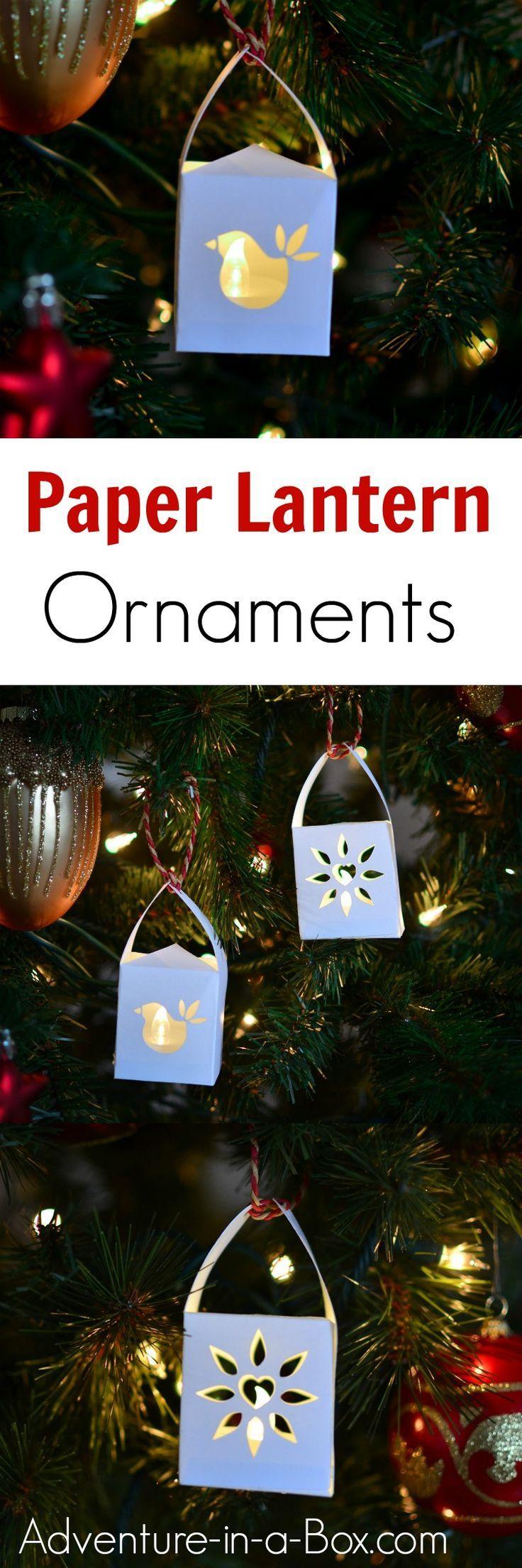 Paper Lantern Christmas Ornaments Christmas Ornaments Christmas Crafts Kids Christmas Ornaments