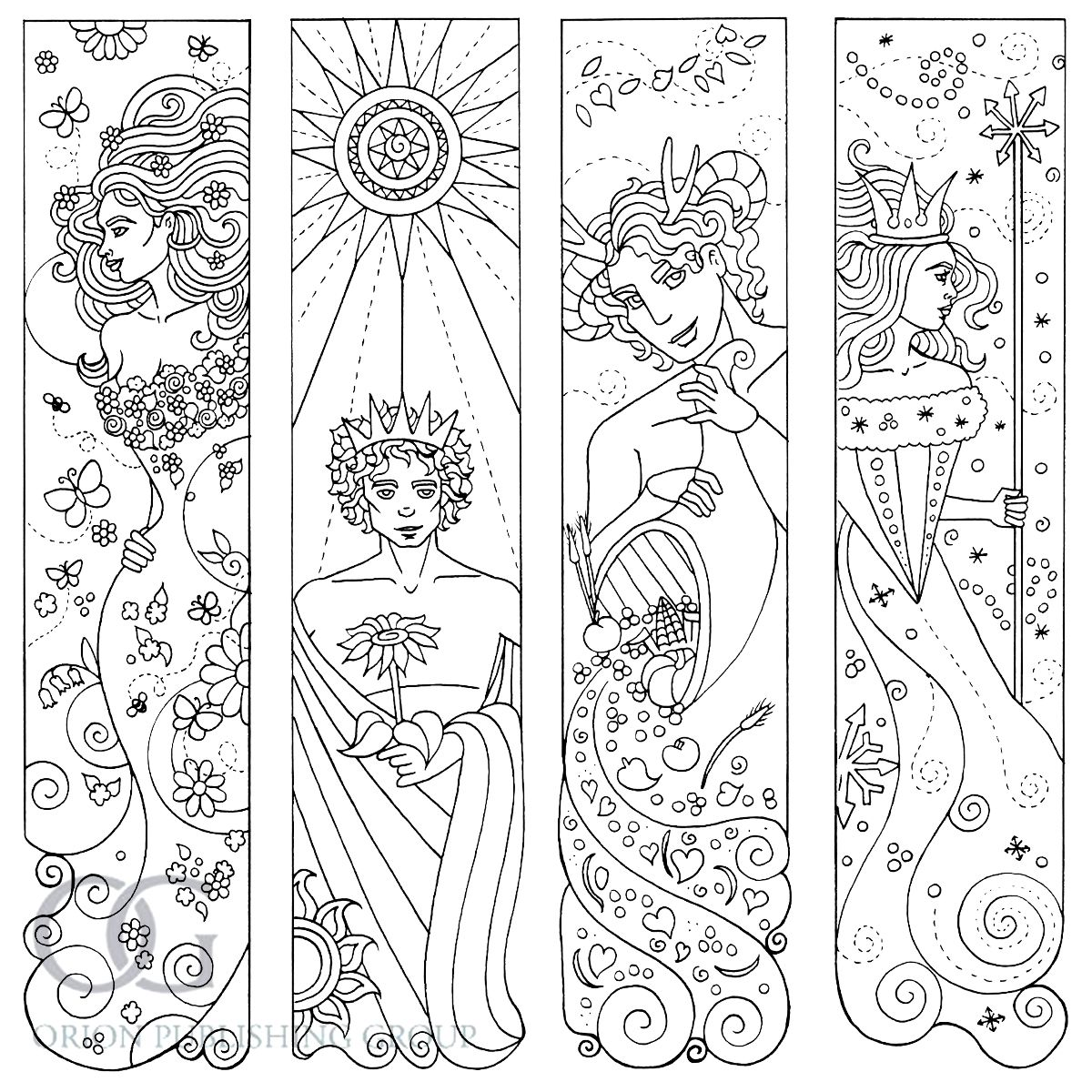 Anastasia Catris Adult Colouring Book Bookmarks