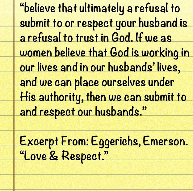 Excerpt From Eggerichs Emerson Love Respect Marriage Quotes Quotes Trust God