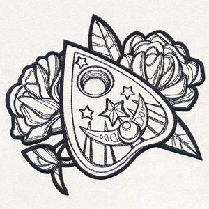 Mystique Planchette Design Ut16040 From Urbanthreads Com Creepy Tattoos Ouija Tattoo Tattoo Stencils