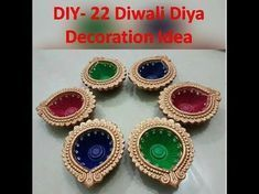 DIY- Diwali Diya Decoration Ideas | Kunal's Design 1 - YouTube #diwalidecorationsathome DIY- Diwali Diya Decoration Ideas | Kunal's Design 1 - YouTube #diwalidecorationsathome