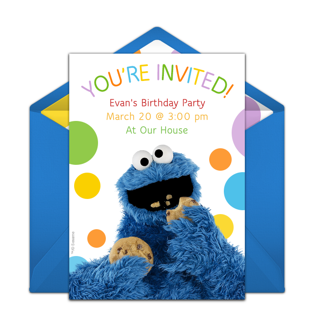 free cookie monster invitations monster online cookie monster and