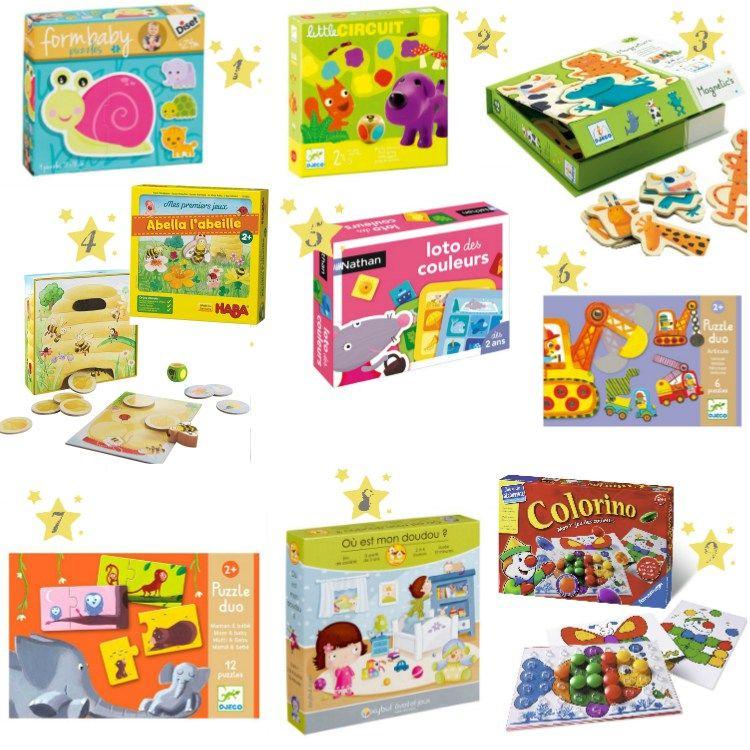 Premiers jeux de société et puzzles : idées cadeaux enfants 2 ans