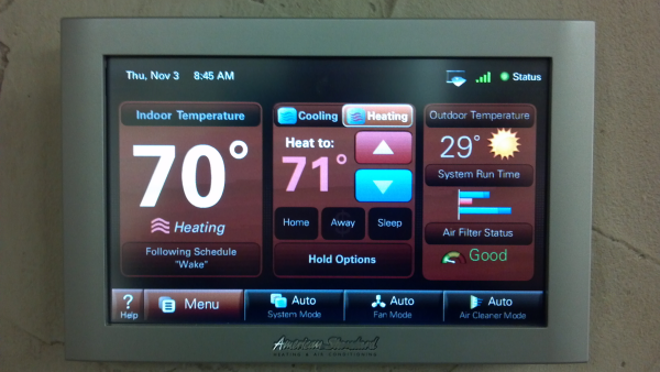 Nexia Home Automation touch panel Home automation