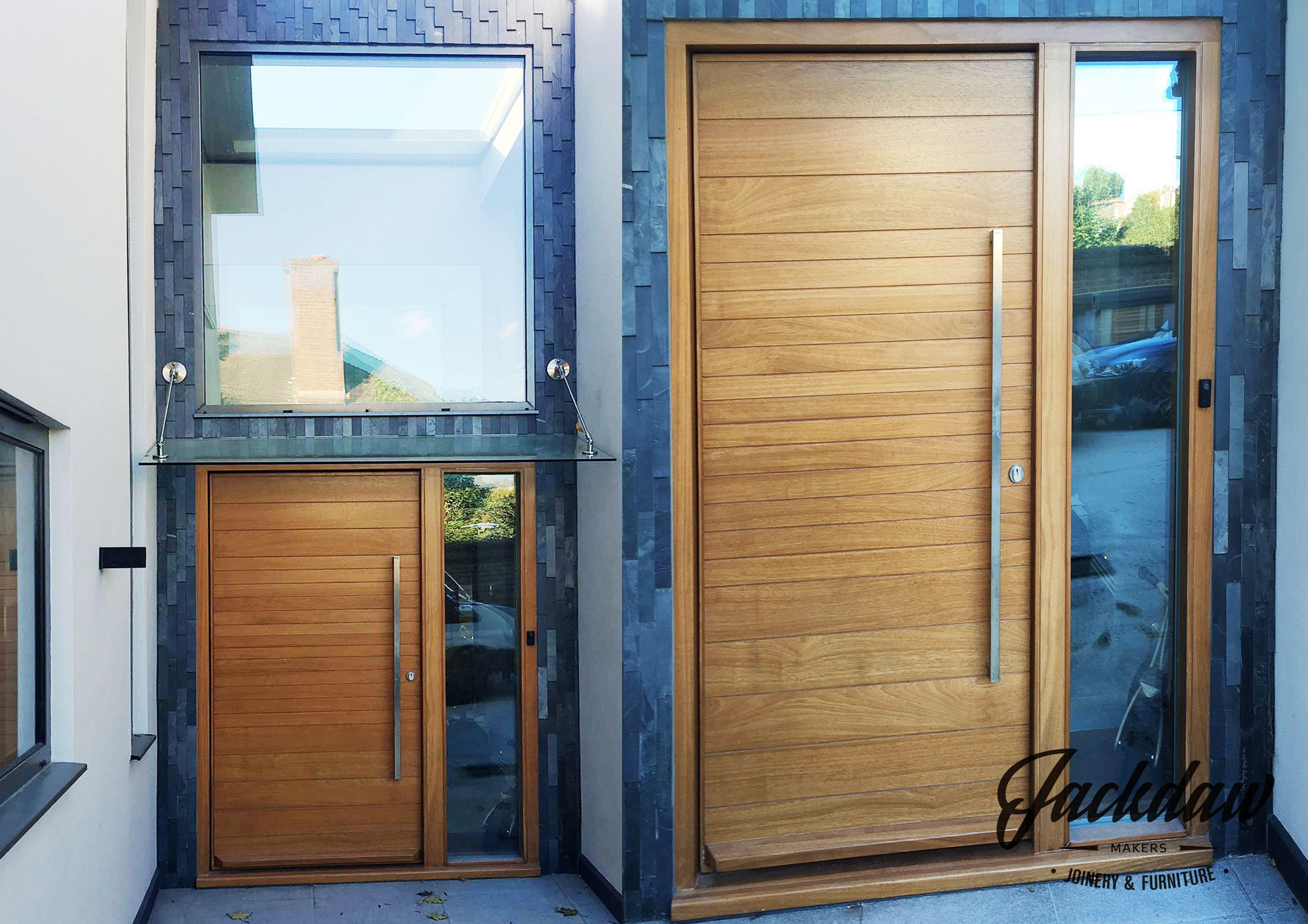 iroko front doorsbespoke front doors contemporary entrance