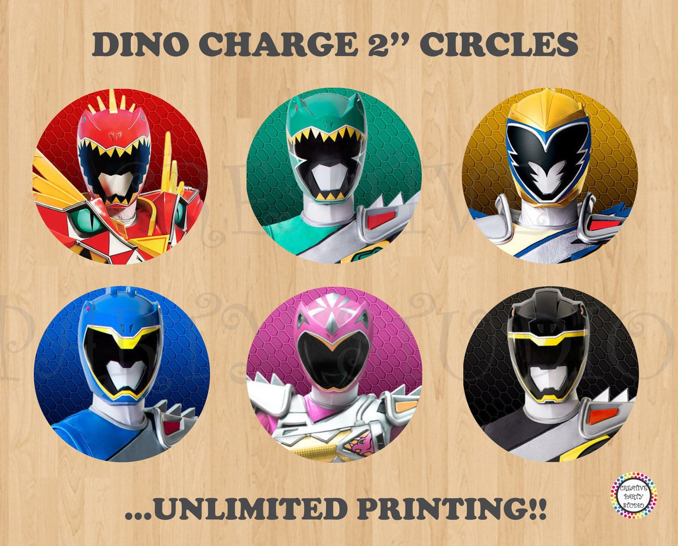 Printable 2 Quot Power Rangers Cupcake Toppers Stickers