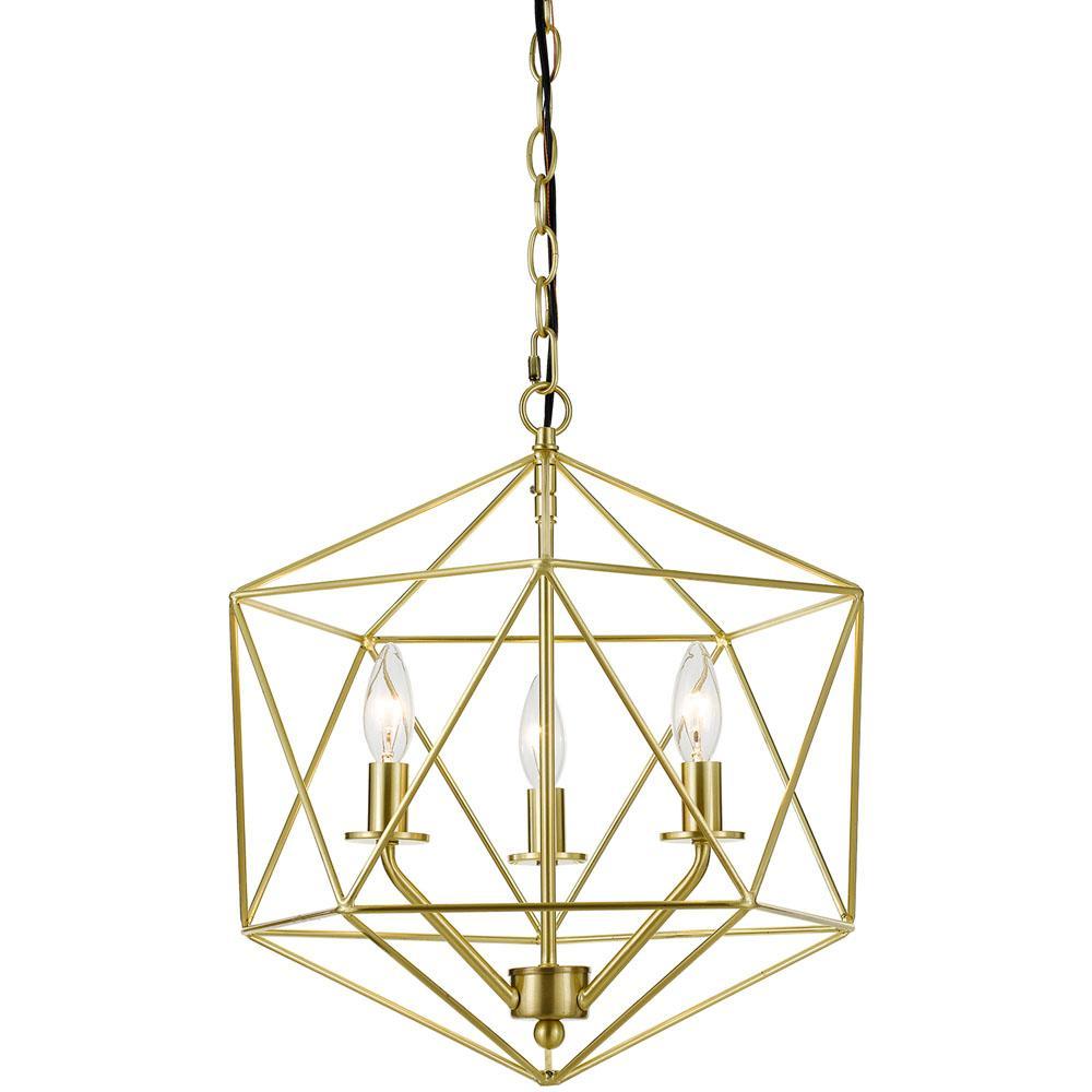 Af Lighting Bellini 3 Light Gold Chandelier 9131 3h Geometric Chandelier Candle Styling Chandelier Lighting