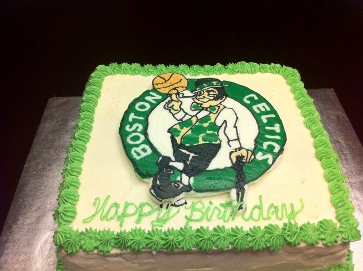 Boston Celtics Birthday Cake Basketball Nba 263236 740x552