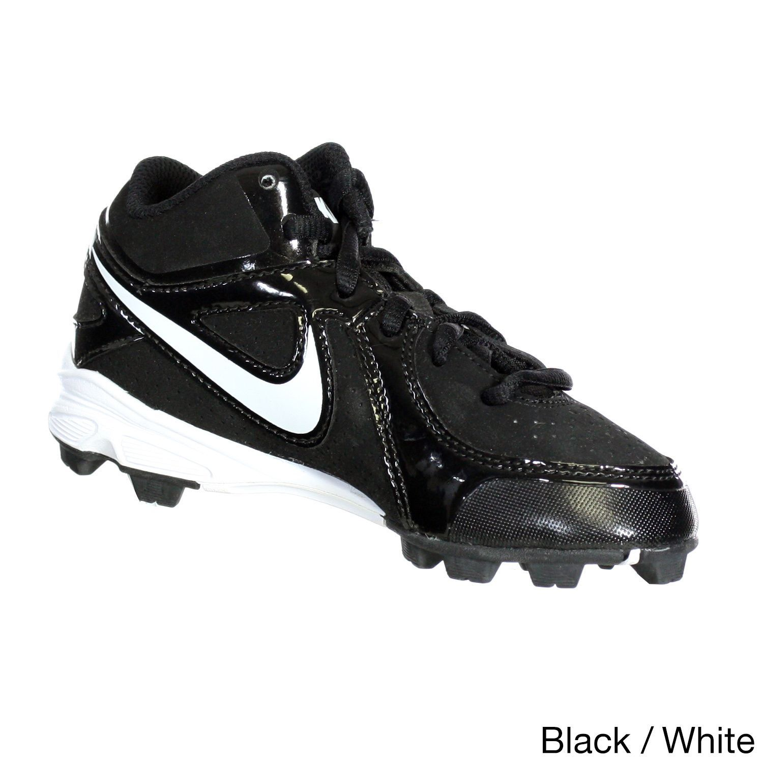 Nike Kids\u0027 MVP Keystone White Synthetic Baseball Cleats by Nike