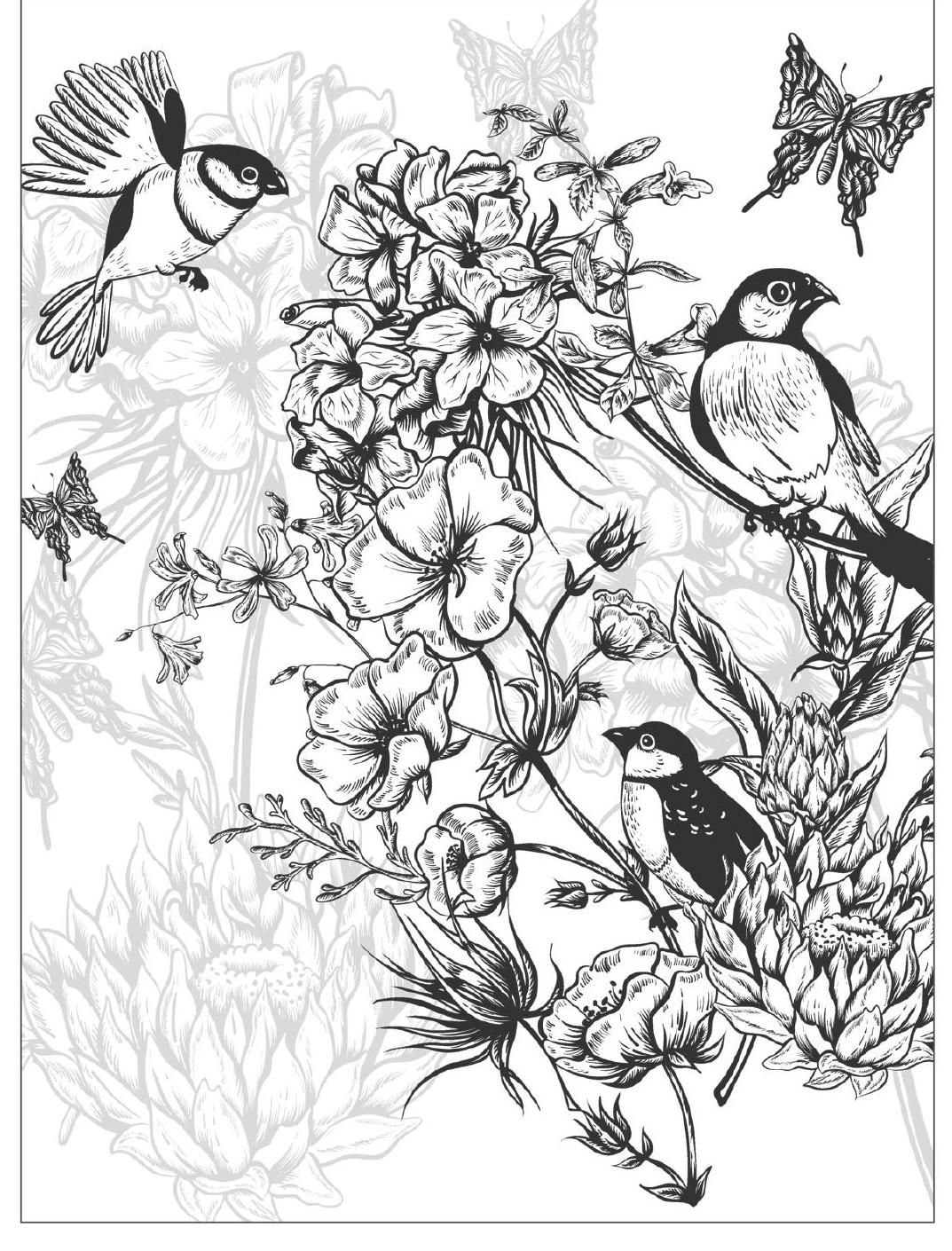 Beautiful Flowers Detailed Floral Designs Coloring Book Preview Clippedonissuu Designs Coloring Books Flower Coloring Pages Coloring Pictures