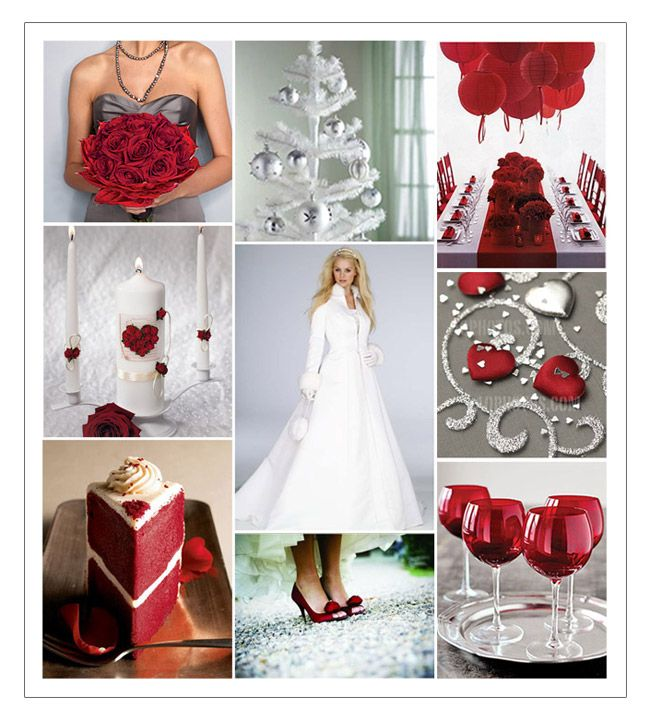 Ideas For Red And Silver (scarlet And Gray) Wedding