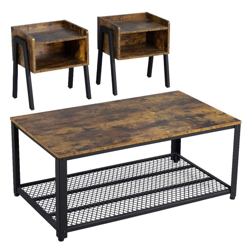 Coastal Living Room Table Sets In 2020 Coffee Table Living Room Table Sets Industrial Livingroom