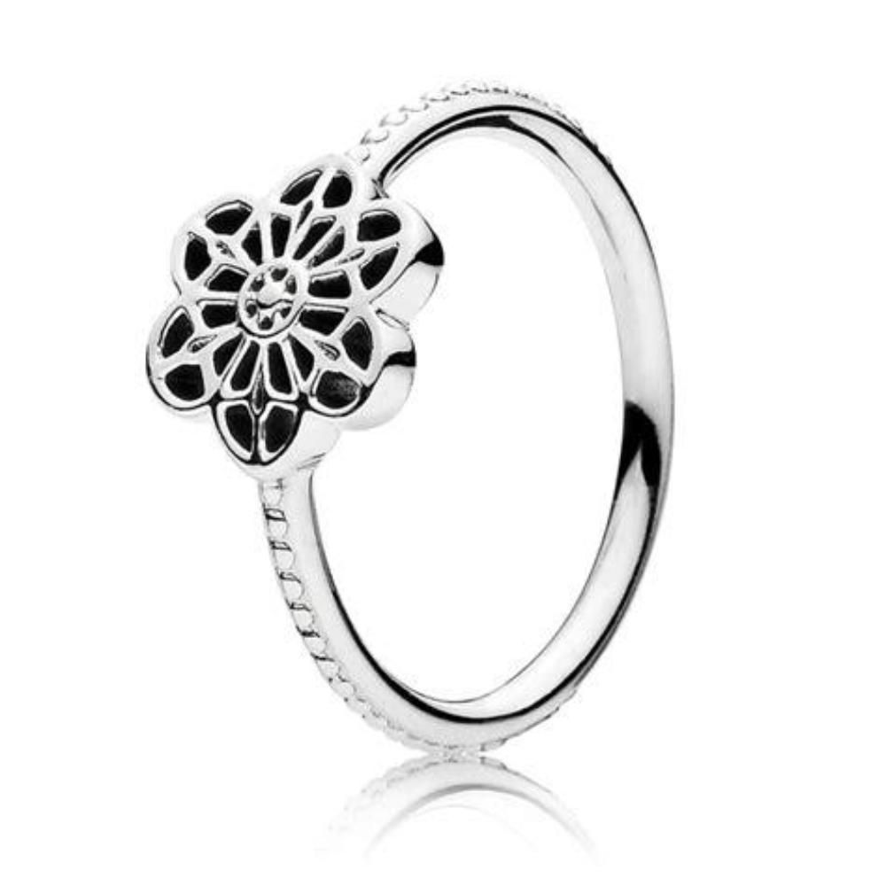 0a1a81800 190992 Floral Daisy Lace Ring | Products | Lace ring, Silver ...