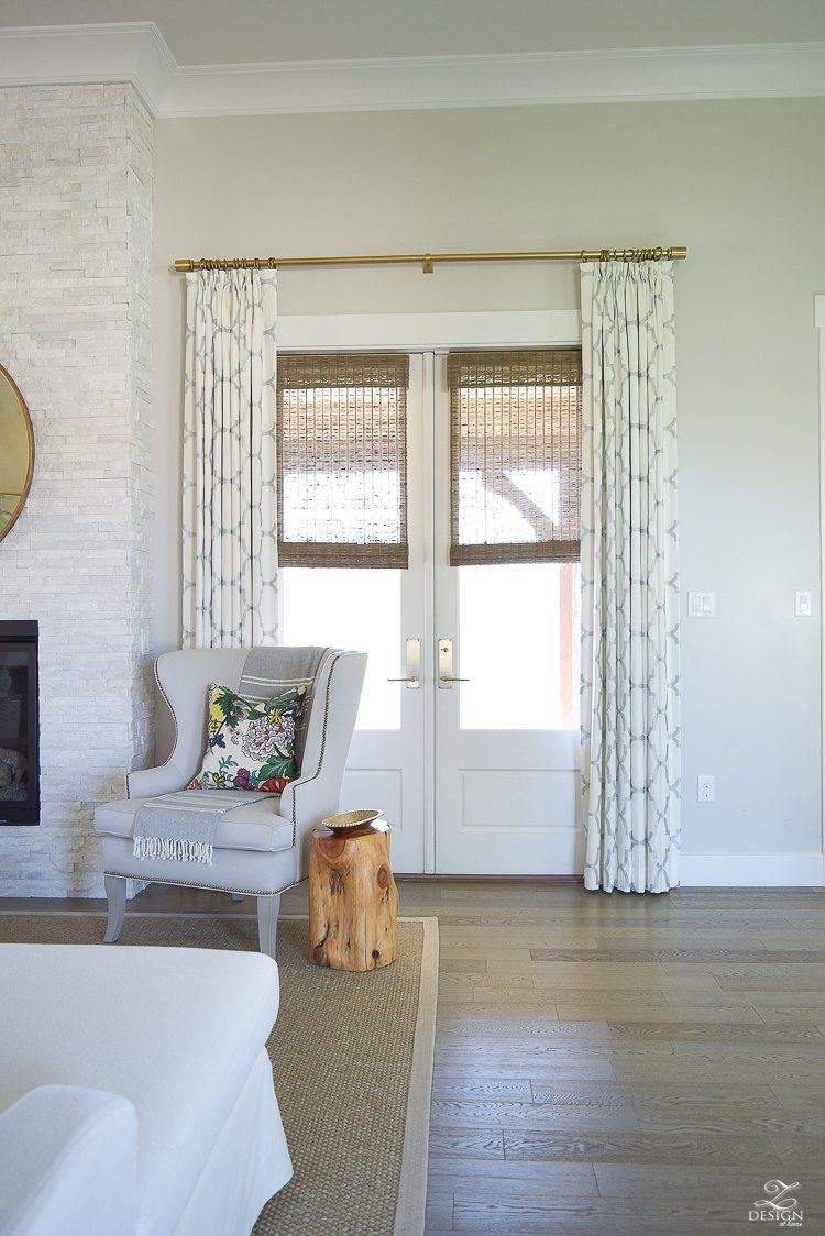 Windsor Smith Riad Pleated Drapes In Pearl Silver Living
