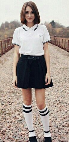 223346b567a Fred Perry Girls 709 | Fred Perry Girls | Skinhead fashion, White ...