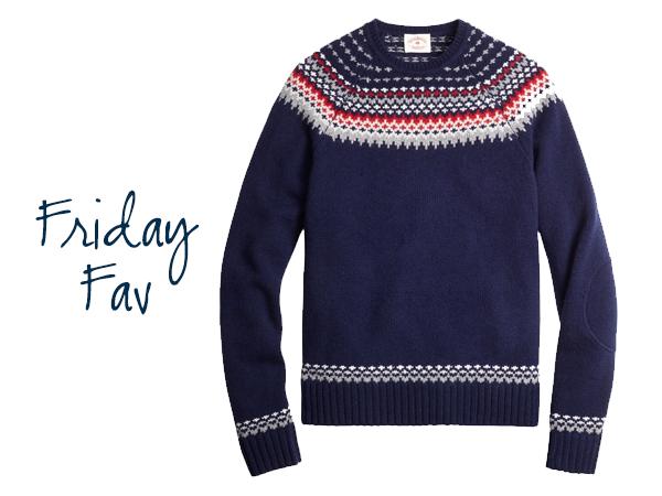 Friday Fav: Fair Isle Sweater | Fair isles, Crewneck sweaters and ...