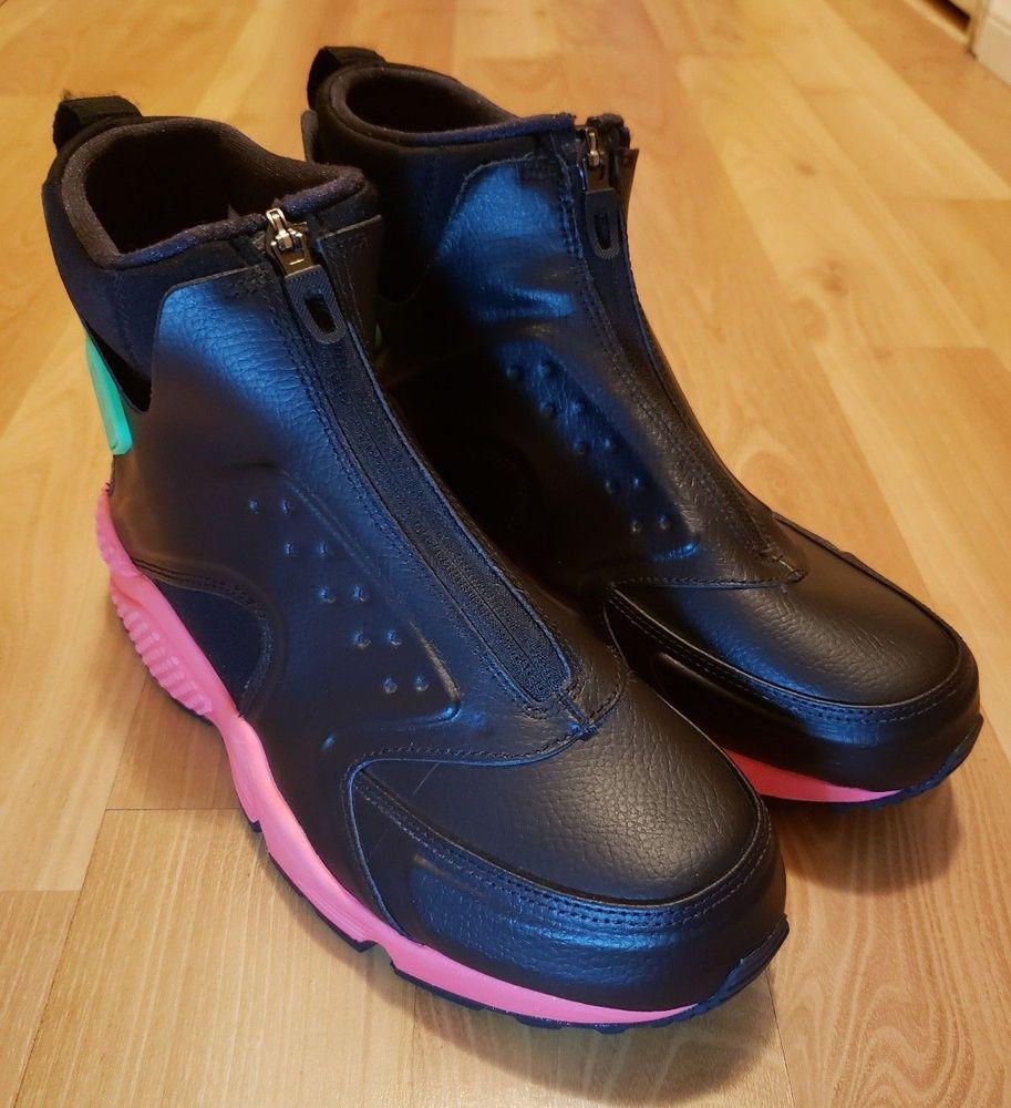 quality design 7767c ca5b3 Nike Air Huarache Run Mid Hot Punch Black 807313-003 Sneaker Boots Womens  Sz 10  fashion  clothing  shoes  accessories  womensshoes  athleticshoes  (ebay ...