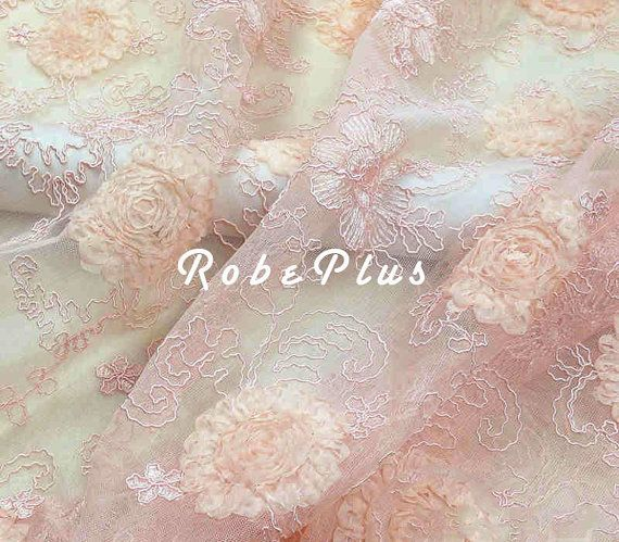 Corded Lace Fabric  Embroider and Cord Lace Fabric  door RobePlus